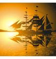 Old Ship Sailing the Seas vector image