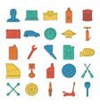 auto service doodle icons set vector image