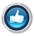 glossy round button vector image