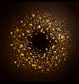 glowing particles stars vector image