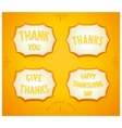 Happy Thanksgiving day sticker vector image