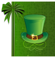 Leprechaun hat with gold buckle vector image