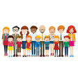 People with happy face vector image