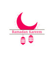 ramadan kareem lantern and moon muslim holiday vector image