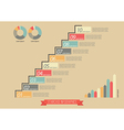 Vintage Staircase Infographic vector image