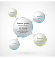 Balls for text vector image vector image