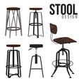 Stool design vector image