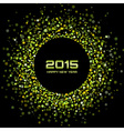 Green Bright New Year 2015 Background vector image
