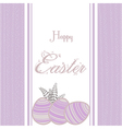 Easter background with eggs vintage pink vector image