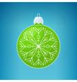 Christmas Blue Ball with SnowflakeMerry Christmas vector image