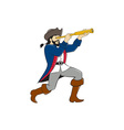 Pirate Looking Spyglass Isolated Cartoon vector image