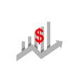 Graph finance dolars business logo vector image