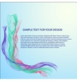 Abstract background with color waves vector image