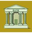 Flat bank icon vector image