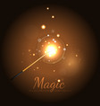 Magic Wand Background With Stars vector image