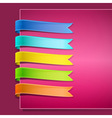 Set of ribbons vector image