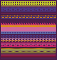 spring collection of ornamental patterns and lines vector image
