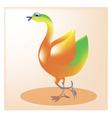 Cheerful bird1 vector image