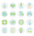 set of ecologic icon abstract elements collection vector image