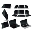 Tablet PC Multiple Views vector image vector image