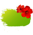 Summer Banner Blot With Flowers vector image
