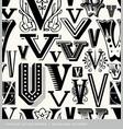 seamless vintage pattern letter V vector image