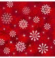 seamless snowflakes vector image