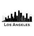 Los Angeles silhouette vector image