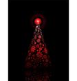 snowflake christmas tree vector image