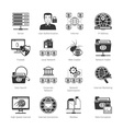 Network And Internet Black Icons vector image vector image