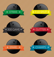 Bowling Ball Banners vector image