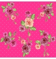 Bright pink floral pattern vector image