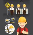 characters worker set vector image