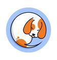 cute sleeping dog vector image
