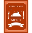 menu background with kitchen utensil and dish vector image