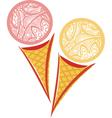 ornamental pattern Ice cream vector image