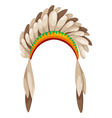 native american headdress vector image