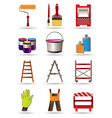 Painting and construction tools vector image vector image