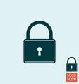 lock icon padlock close symbol vector image