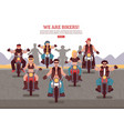 bikers background vector image