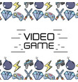 Videogame technology elements to game background vector image