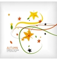 Autumn floral wave on white background vector image vector image