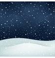 snowfall night background vector image