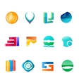 Abctract logo set vector image