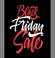 black friday of the sale vector image