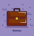 brown briefcase design vector image