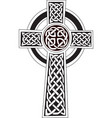 celtic cross symbol - tattoo or artwork vector image