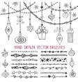 Christmas garland brushesballs set vector image