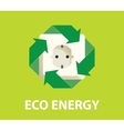 eco green energy electricity renewable concept vector image