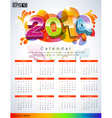 Exclusive New Calendars 2014 vector image